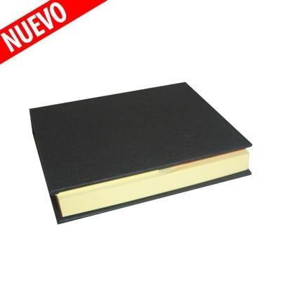 libreta mini negra con post-it US 10,5x8 2