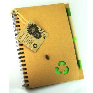 Cuaderno ecológico con semilla de regalo