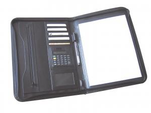 Carpeta Ejecutiva simil cuero con calculadora