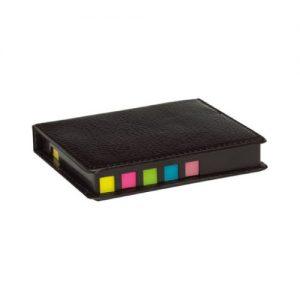 Set post-it más resaltadores caja cuerina