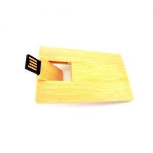 Pendrive tarjeta madera bamboo