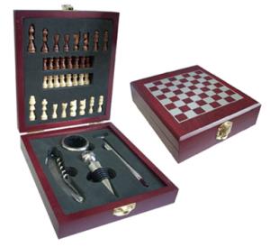 Set para vino más ajedrez
