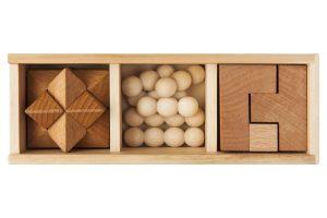 Rompecabezas madera 3 en 1