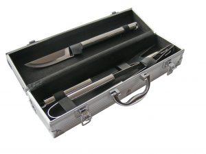 Set para asado caja metálica